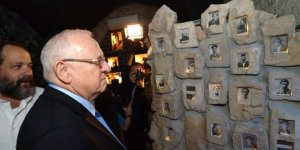President Reuven Rivlin views an touching exhibit about Hebron's fallen heroes