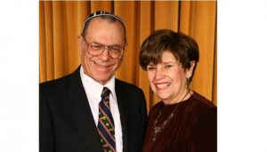 Rabbi Pechman, founder of the Hebron Fund, with wife Ruth