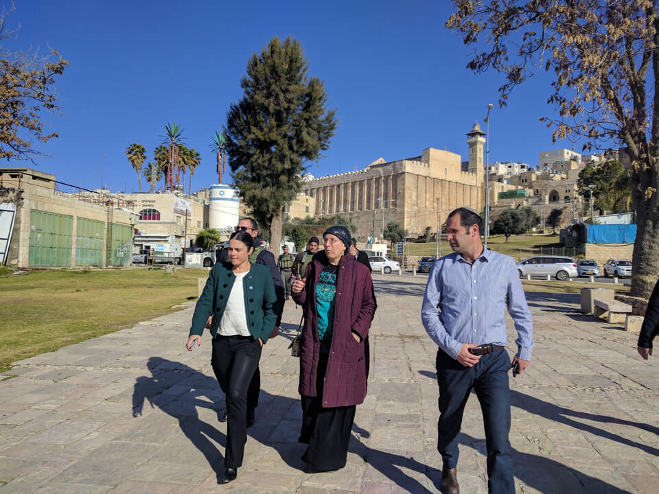 Justice Minister Ayelet Shaked Tours Hebron
