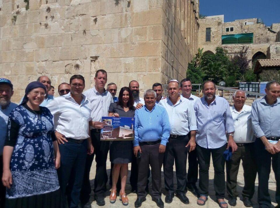 Minister of Culture Miri Regev in Hebron