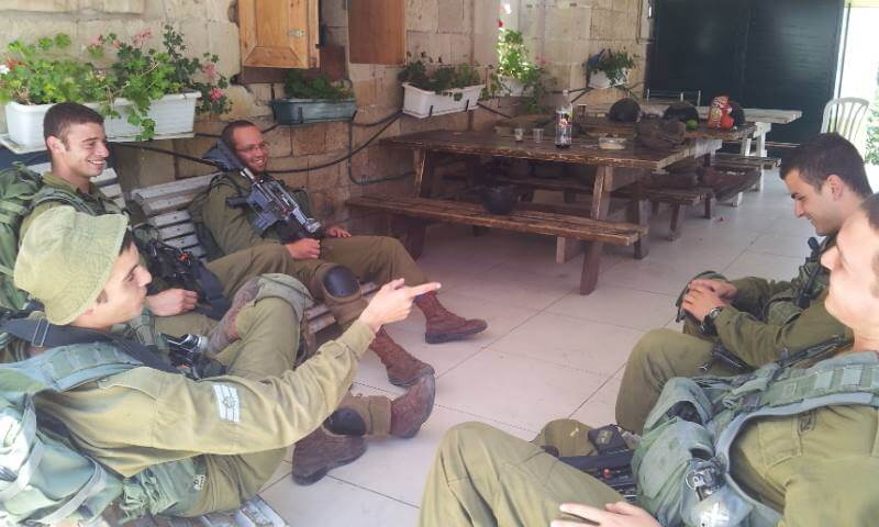 Soldier Rest Area in Hebron