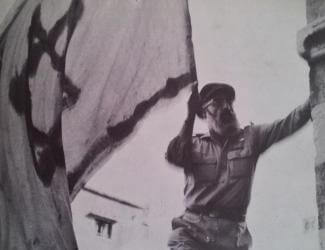 Rabbi Shlomo Goren in Hebron, 1967