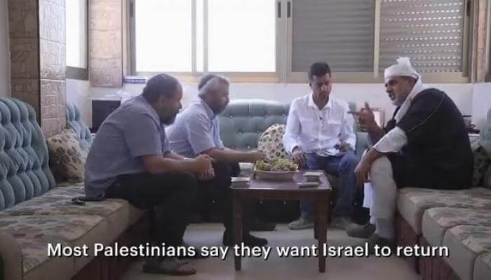 Mohammed Jabber sits with Yishai Fleisher and Noam Arnon