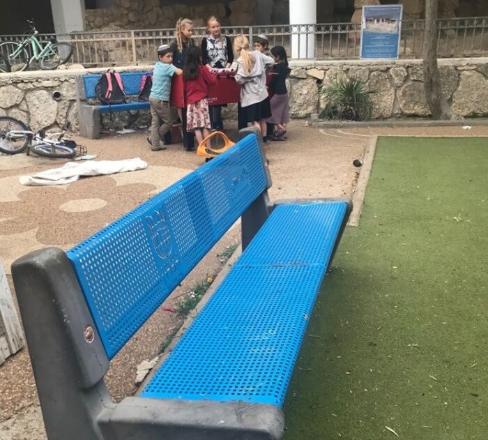 The community and visitors benefit from beautiful benches all throughout Hebron