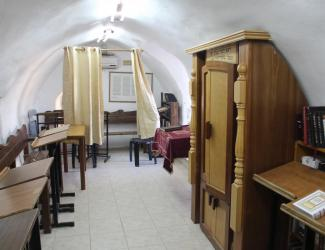 (PHOTO: Interior of the Tomb of Ruth and Jesse complex. It is used regularly as a synagogue by locals and visitors.)