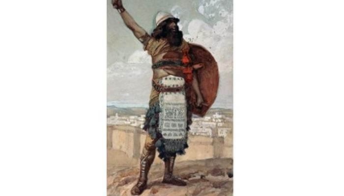 "Photo: ""Othniel"" by French painter James Tissot (1836 - 1902), who visited the Land of Israel multiple times. Source: The Jewish Museum, New York."