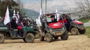 Jeeping activity on a Bat Mitzvah tour
