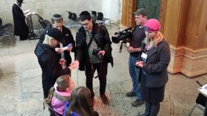 Bat Mitzvah tour inside Ma'arat HaMachpela