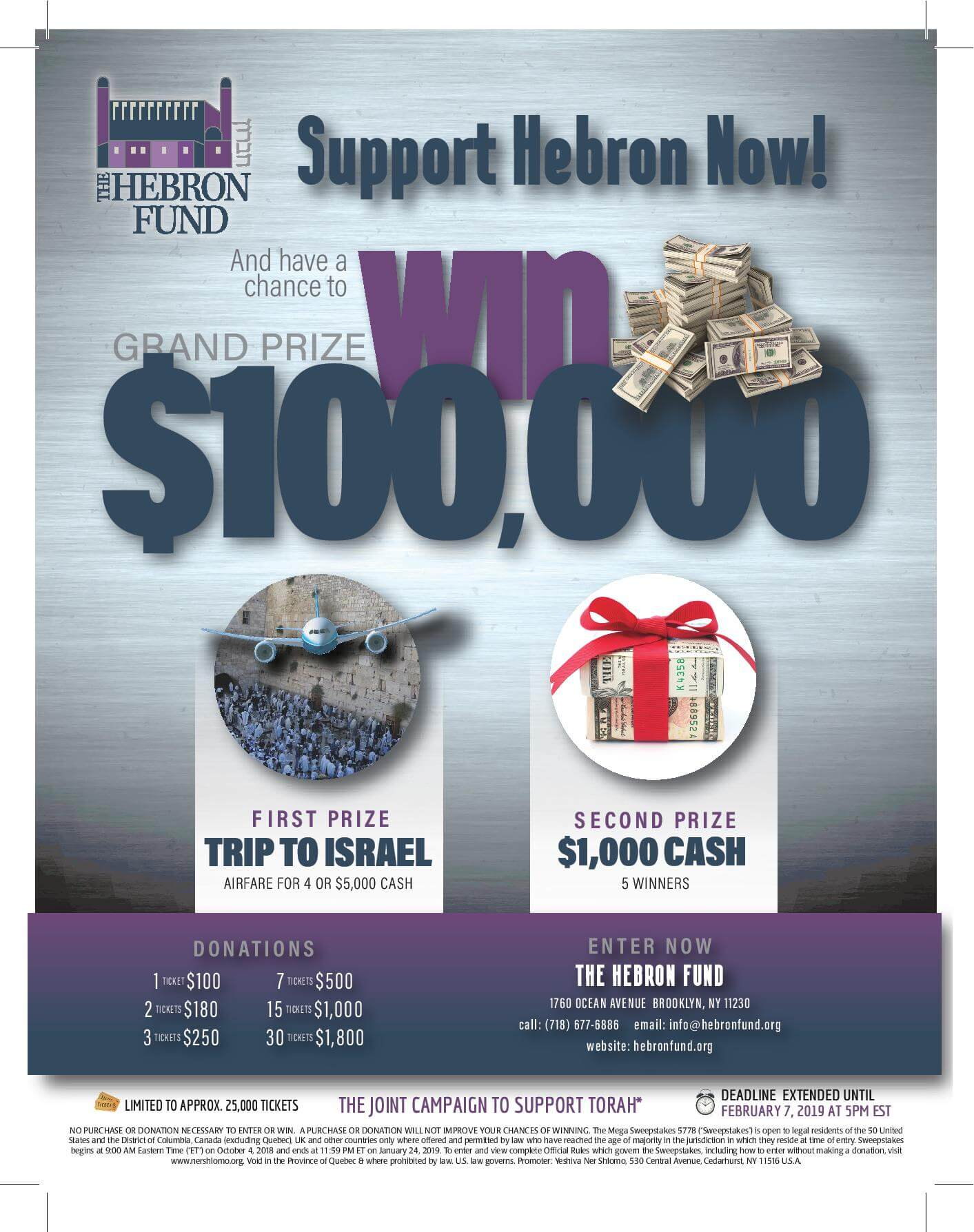 Grand Raffle - Win Big & Support Hebron | The Hebron Fund