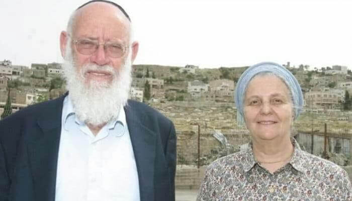 PHOTO: Miriam Levinger and her husband Rabbi Moshe Levinger. Credit: Miri Tzachi.